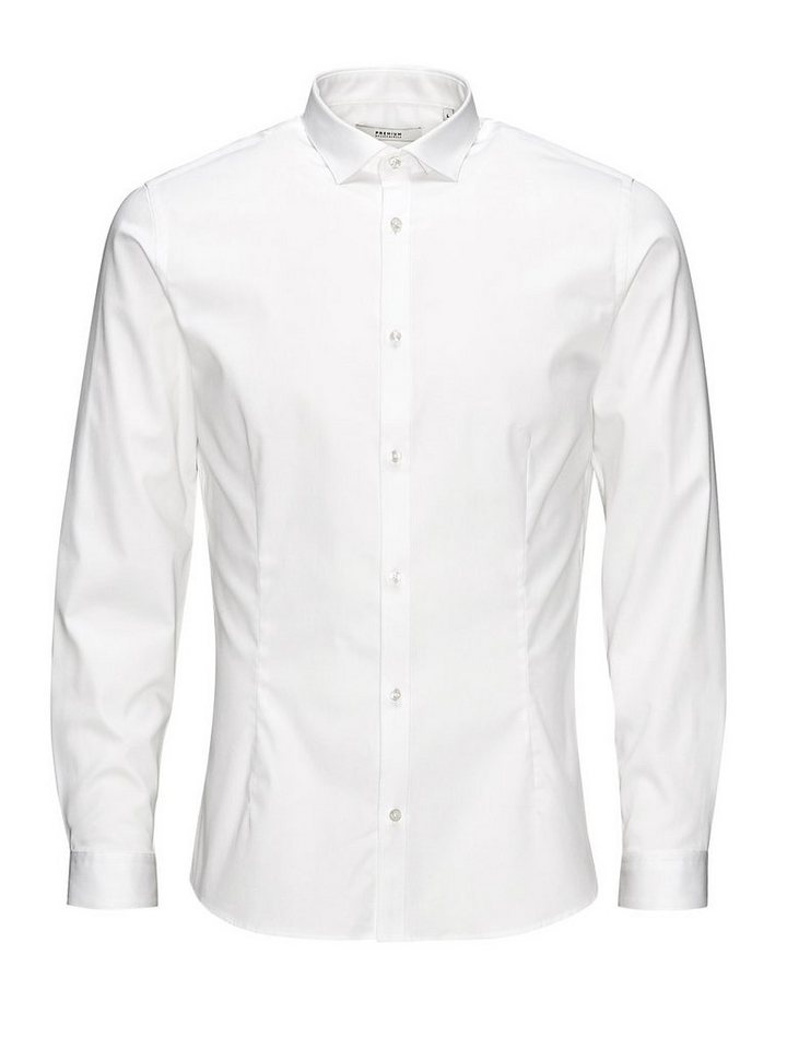 Jack & Jones Super schlank Businesshemd in White