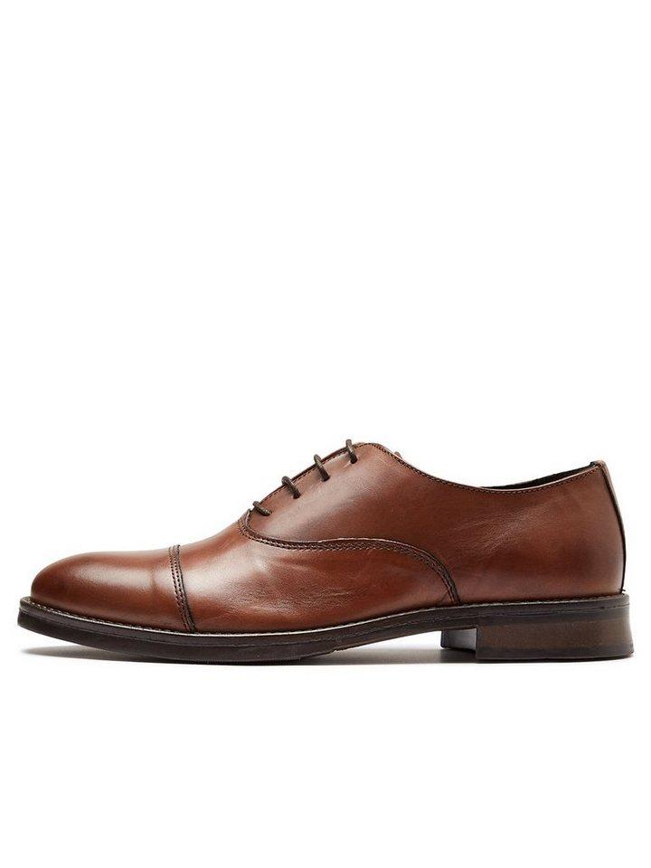 Selected Leder- Elegante Schuhe in Cognac