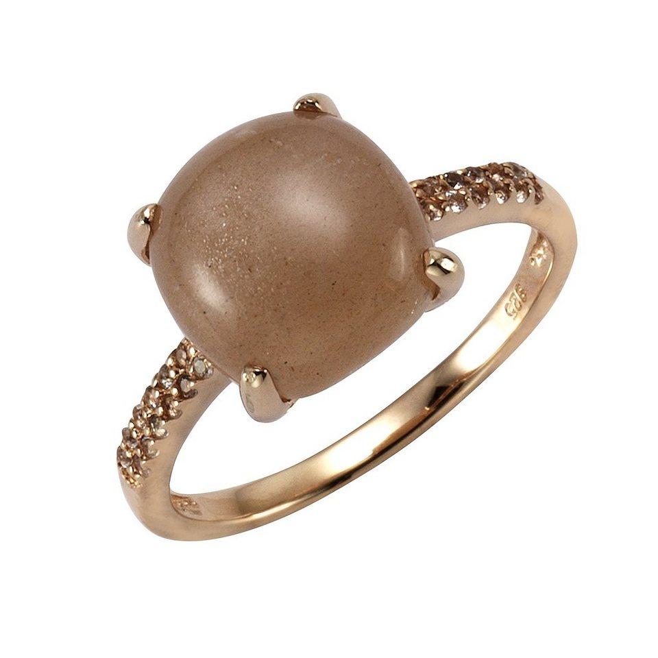 Zeeme Ring »925/- Sterling Silber Mondstein« in rot