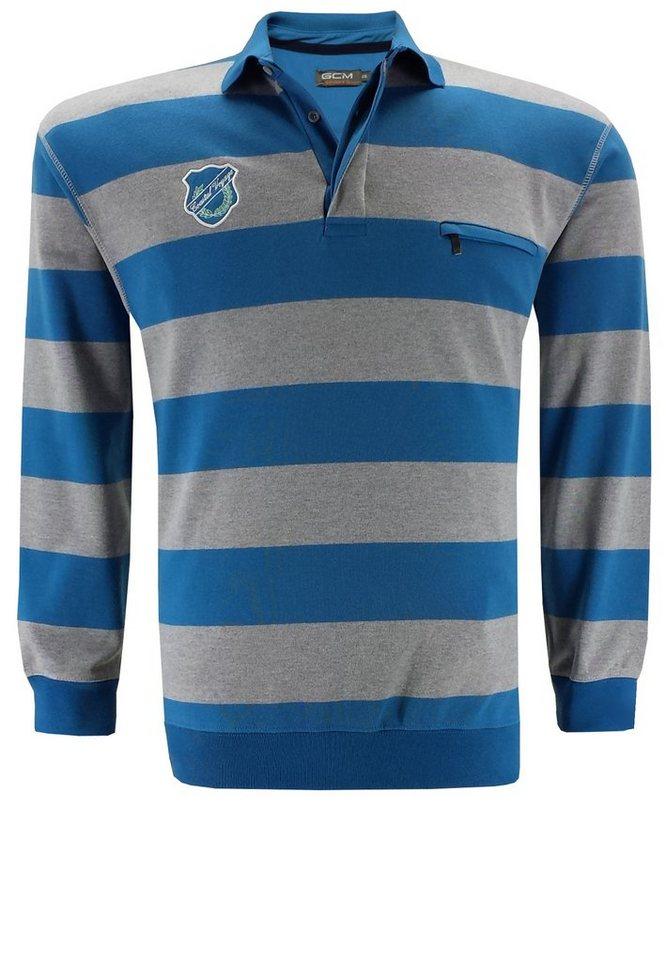 GCM Polosweater in Blau