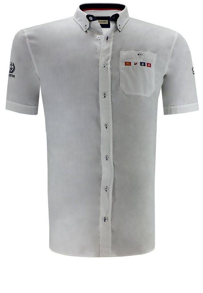 maxfort Kurzarmhemd in Weiß