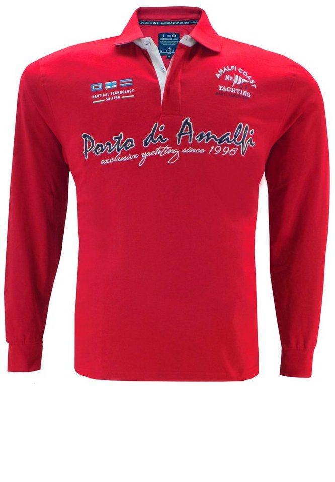 kitaro Polosweater in Rot