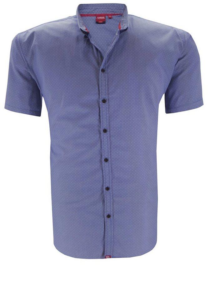 D555 Kurzarmhemd in Blau