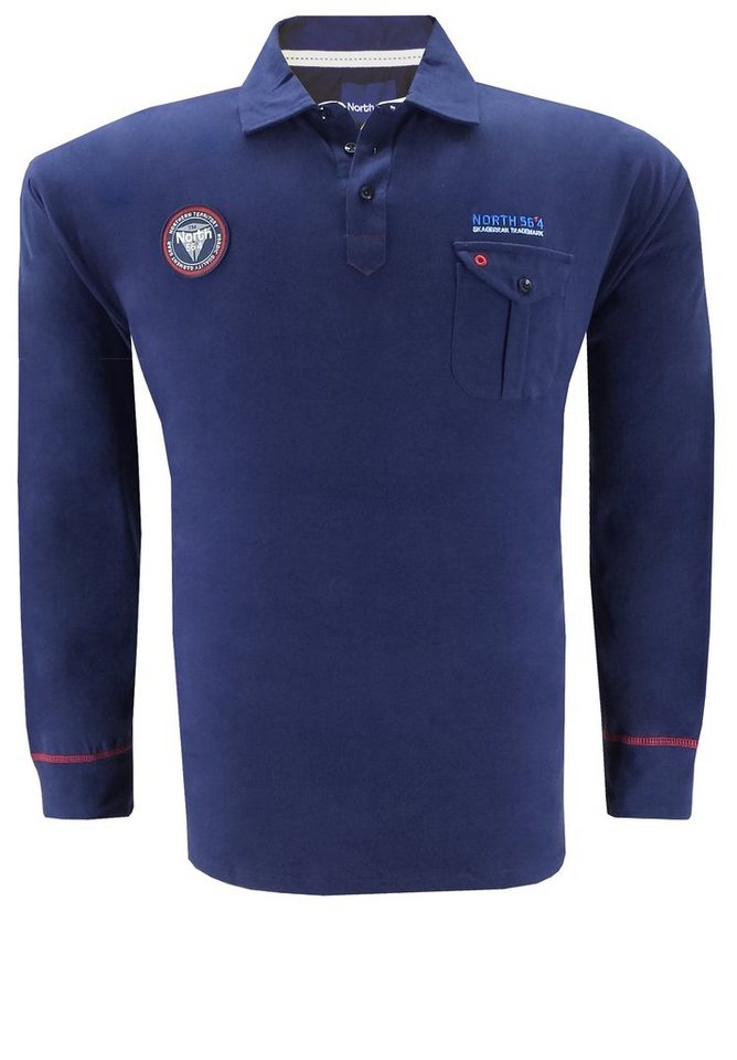 north 56 4 Poloshirt in Marineblau