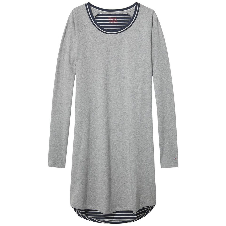 Tommy Hilfiger Nachthemden »Penne sn dress ls« in GREY / PARISIAN NIGHT
