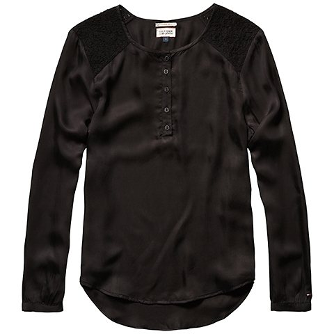 Hilfiger Denim Blusen »Sarai blouse 3/4 slv« in TOMMY BLACK