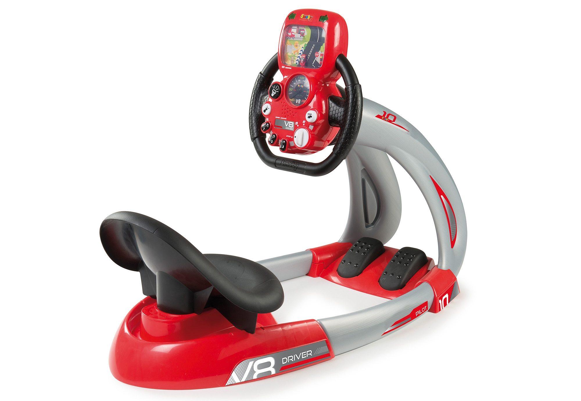 Smoby Rennsimulator, »V8 Driver - Fahrsimulator + Smartphone-Halter