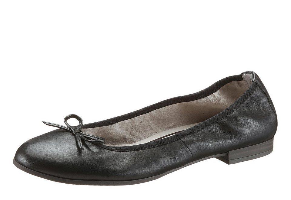 Tamaris Ballerina mit Zierschleifchen in schwarz