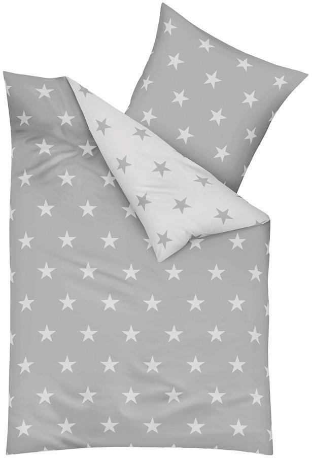 Wendebettwäsche »Stars«, Kaeppel, mit Sternen | Heimtextilien > Bettwäsche und Laken > Wendebettwäsche | Grau | Kaeppel