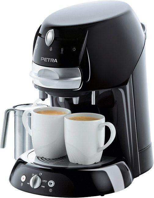 Petra Kaffeepadmaschine KM 42.17, mit Pulverkasette für losen Kaffee