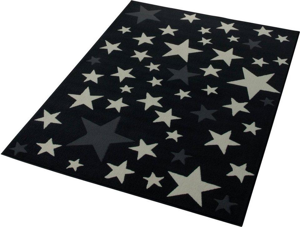 Teppich, Hanse Home, »Sterne«, gewebt, Trendmotiv in Grau