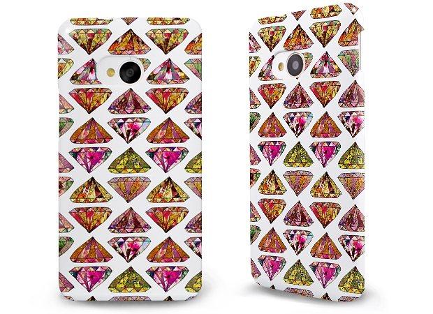 caseable Premium Hülle für das HTC One M7, Hardcase aus recyceltem PET mi