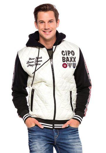 Cipo & Baxx Outdoorjacke in coolem Jeans-Look