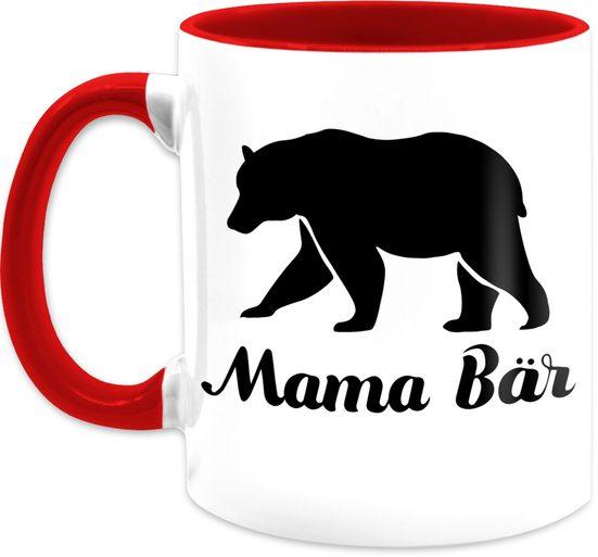 Shirtracer Tasse »Mama Bär - Muttertagsgeschenk Tasse - Tasse zweifarbig«, Keramik