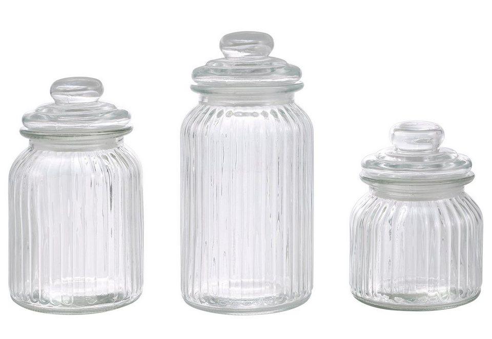 Vorratsgläser (3tlg.) in klarglas