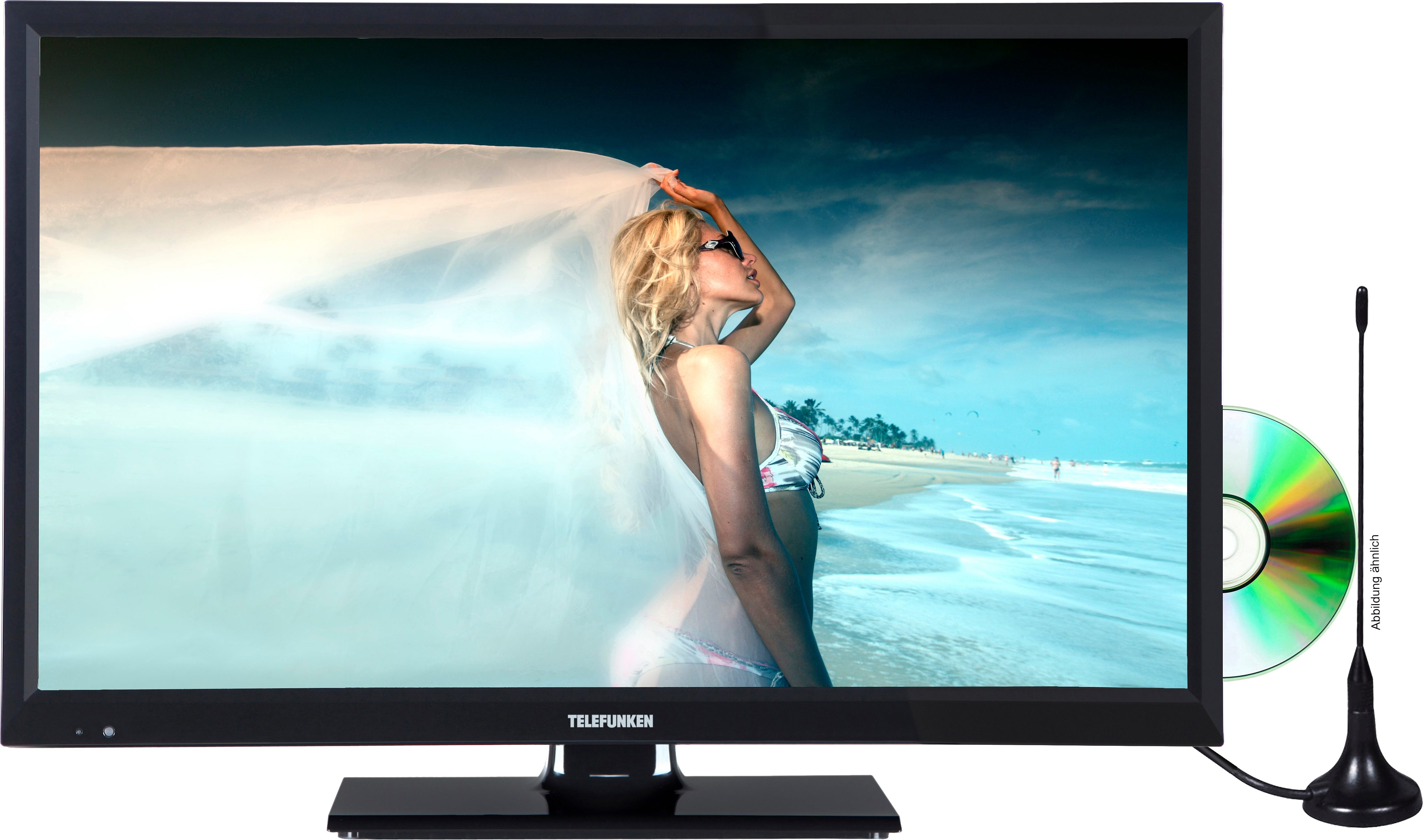 Telefunken L24H180M3D (inkl. DVD-Player), LED Fernseher, 61 cm (24 Zoll), HD-ready 720p
