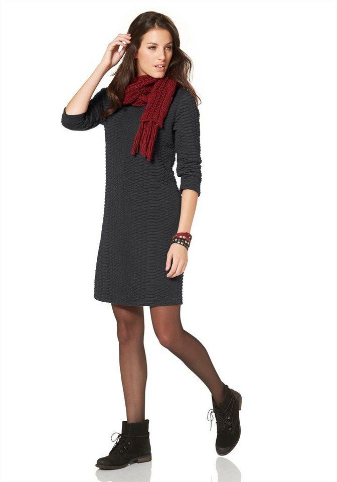Aniston Sweatkleid mit 3/4-langen Ärmeln in anthrazit