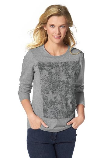 Cheer Langarmshirt, With Trendy Front-print