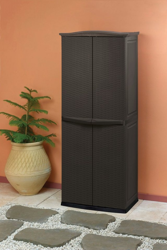 tepro ger teschrank b t h 70 50 179 cm rattanoptik online kaufen otto. Black Bedroom Furniture Sets. Home Design Ideas
