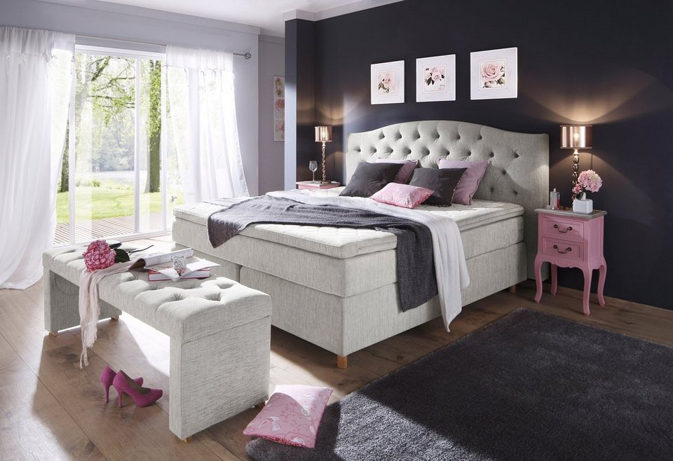 boxspringbett inkl topper home affaire claire otto. Black Bedroom Furniture Sets. Home Design Ideas