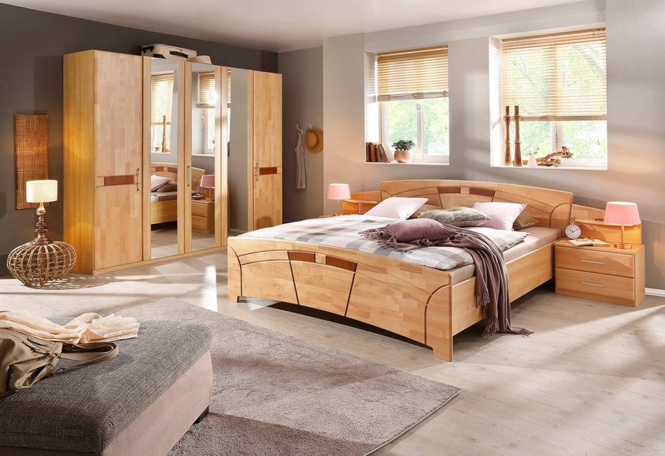 home affaire schlafzimmer set 4 tlg sarah mit bett 180 200 und 5 oder 6 trg schrank. Black Bedroom Furniture Sets. Home Design Ideas