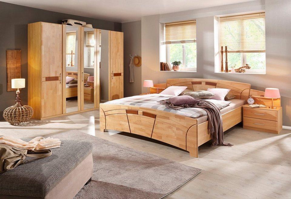 schlafzimmer set 4 tlg sarah mit bett 180 200 und 5. Black Bedroom Furniture Sets. Home Design Ideas
