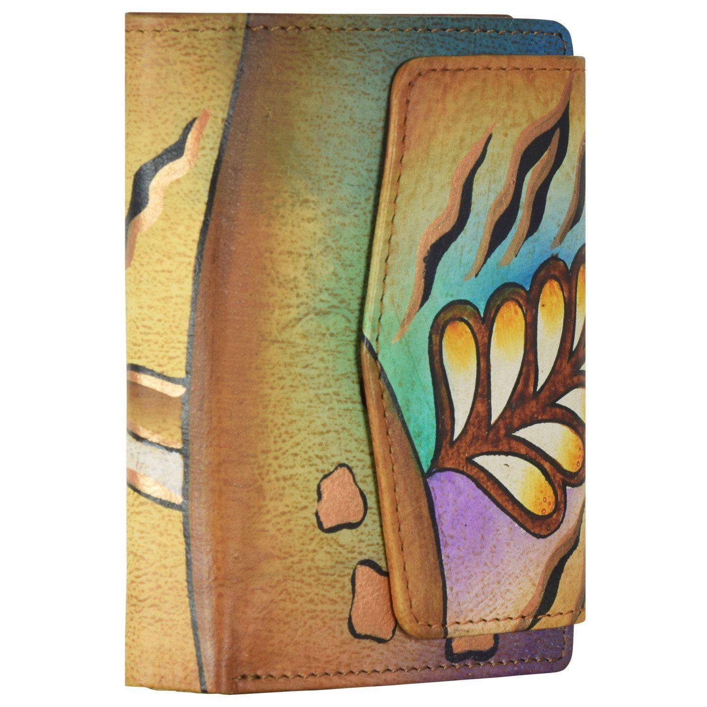 GREENLAND Art + Craft Geldbörse Leder 11 cm
