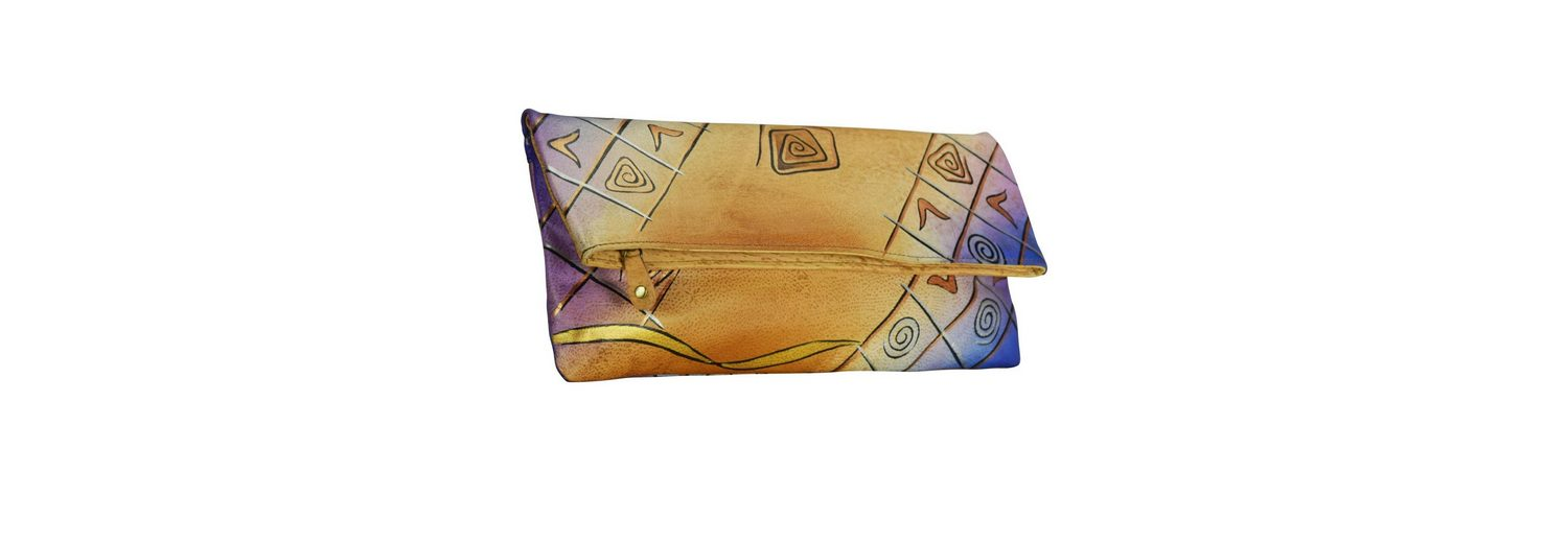 Greenland Art + Craft Clutch Tasche Leder 30 cm