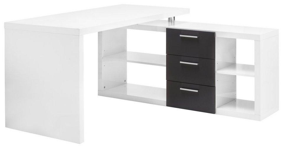 eckschreibtisch wei otto. Black Bedroom Furniture Sets. Home Design Ideas