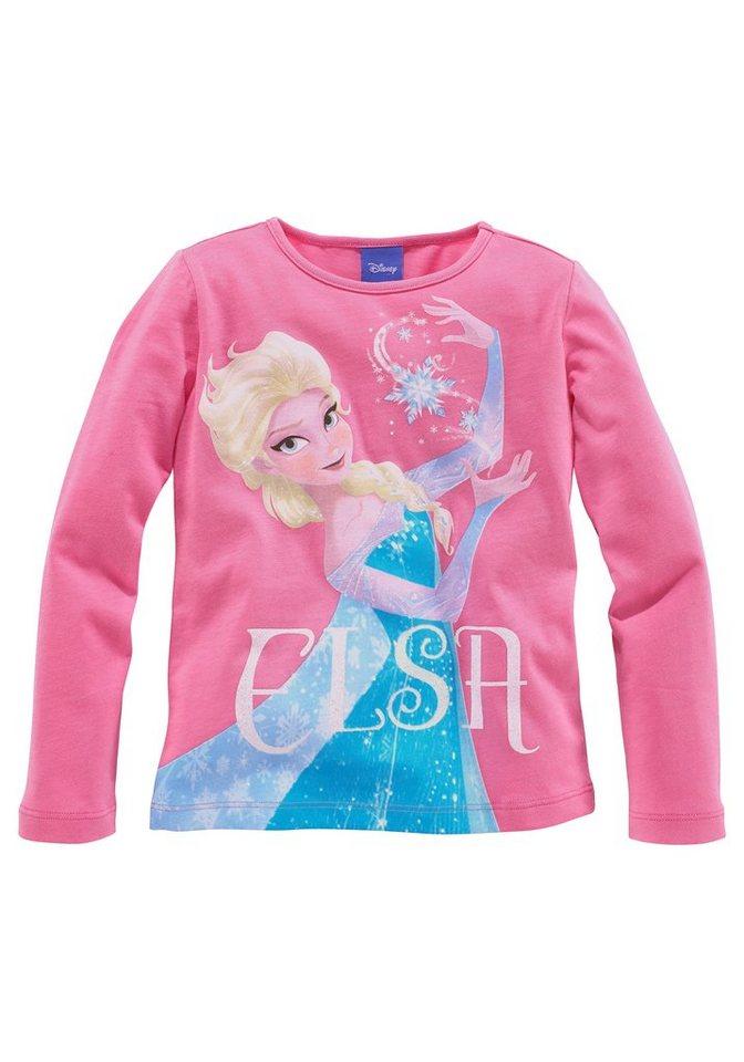 Disney Langarmshirt mit Eiskönigin Elsa Motiv in pink
