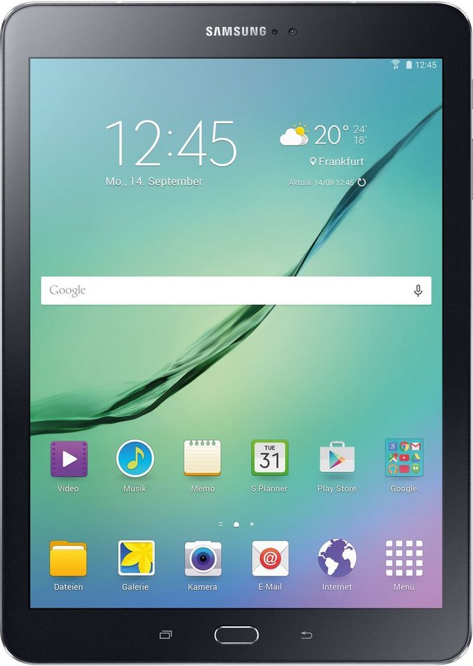 Samsung Galaxy Tab S2 9.7 WiFi Tablet-PC, Android 5.0, Quad-Core, 24,6 cm (9,7 Zoll), 3072 MBSDRAM in schwarz