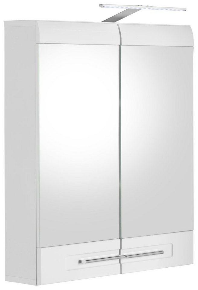Welltime Spiegelschrank »Bora« 2-türig in weiß