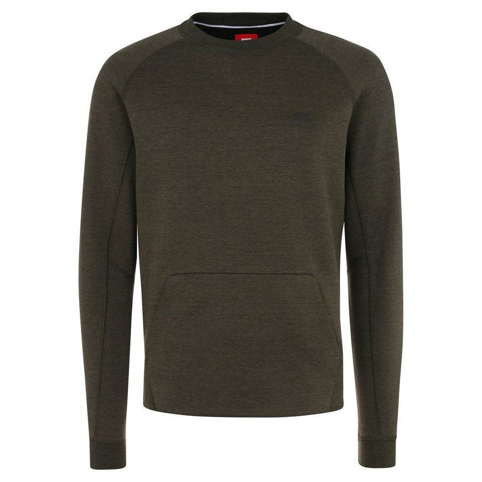 Nike Sportswear Tech Fleece Crew Sweatshirt Herren in khaki / schwarz