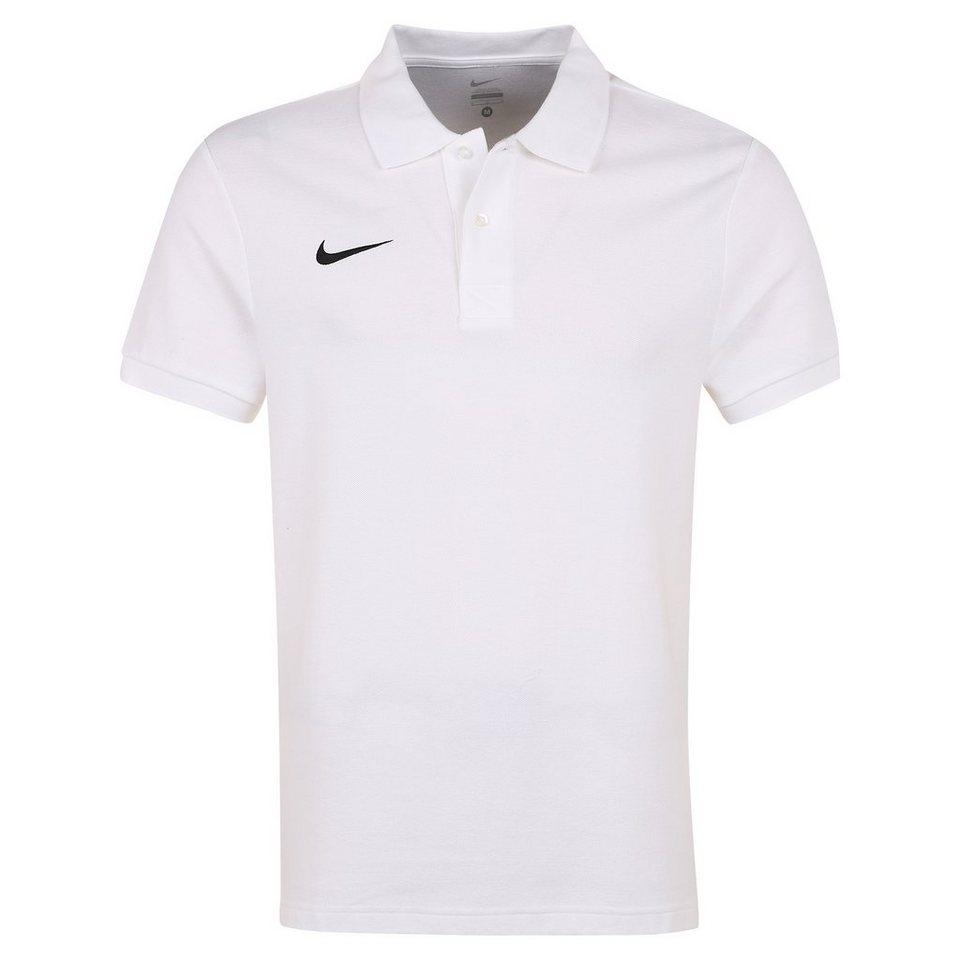 NIKE Core Poloshirt Herren in weiß / schwarz