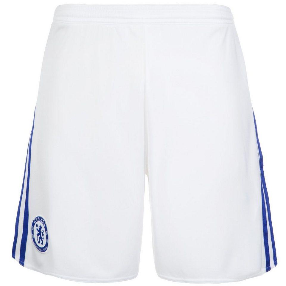 adidas Performance FC Chelsea Short Away 2015/2016 Herren in weiß / blau