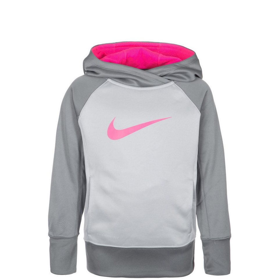NIKE KO 3.0 Over The Head Trainingskapuzenpullover Kinder in grau / pink