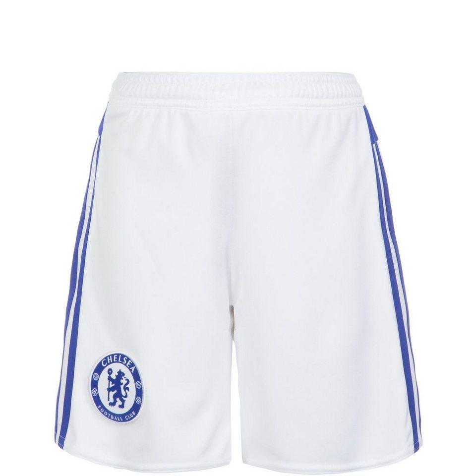 adidas Performance FC Chelsea Short Away 2015/2016 Kinder in weiß / blau