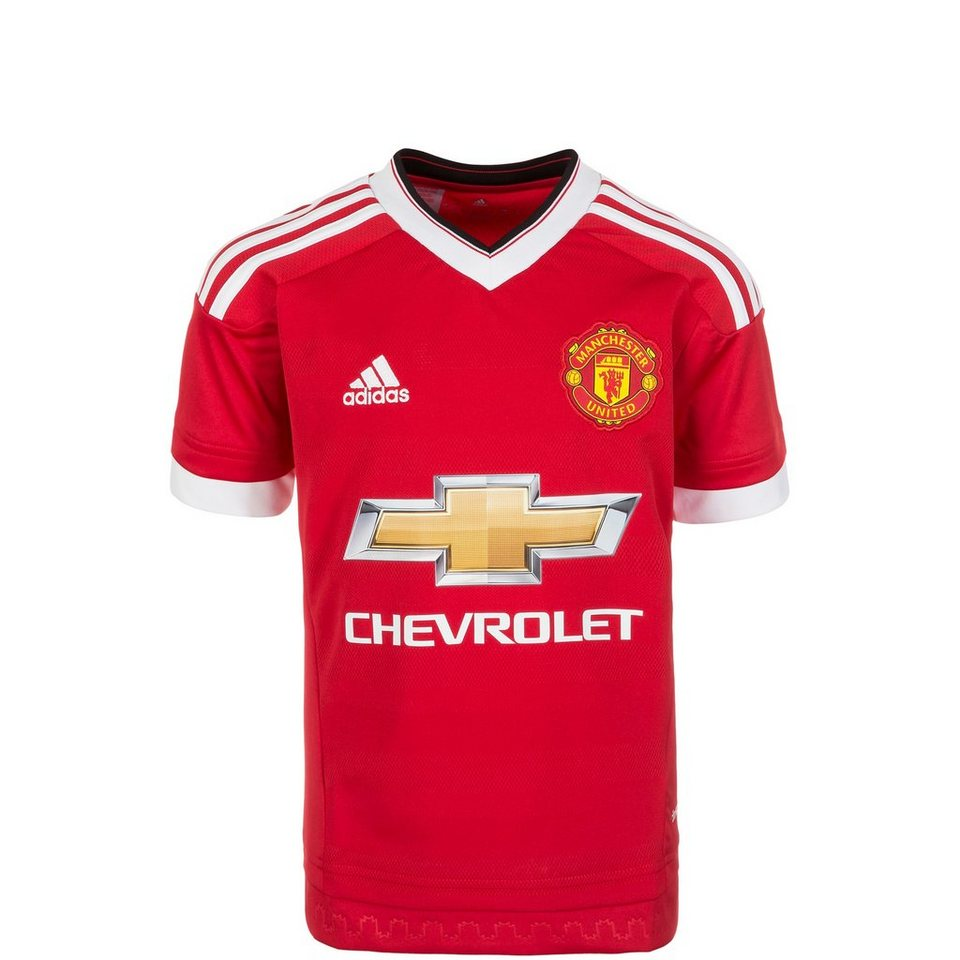 adidas Performance Manchester United Trikot Home 2015/2016 Kinder in rot / weiß