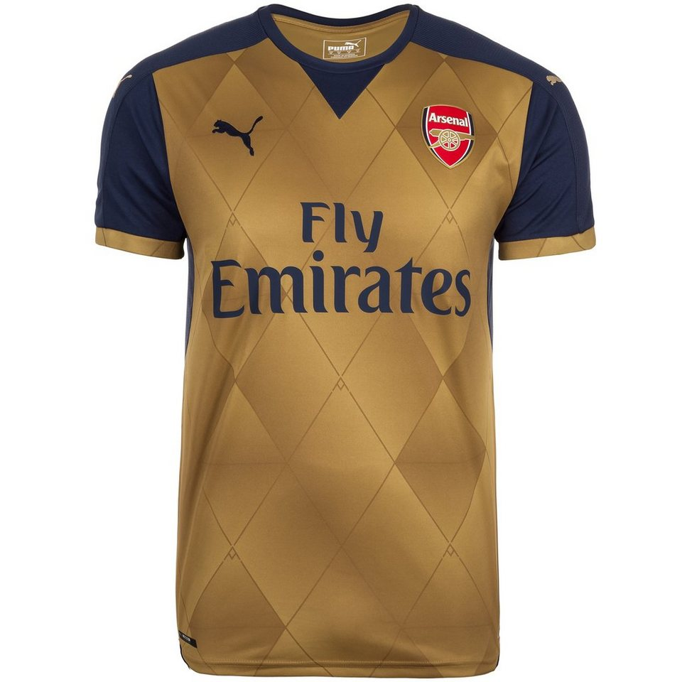 PUMA Arsenal London Trikot Away 2015/2016 Herren in gold / dunkelblau