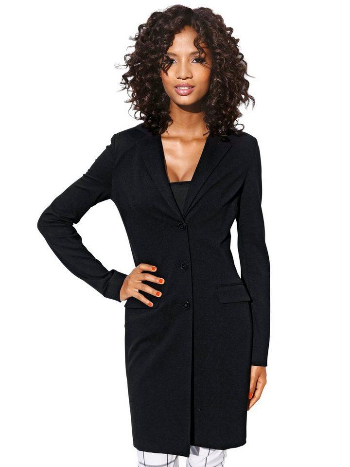 ASHLEY BROOKE by Heine Bodyform-Longblazer Jersey in schwarz