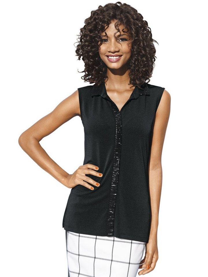 Bodyform-Shirttop in schwarz