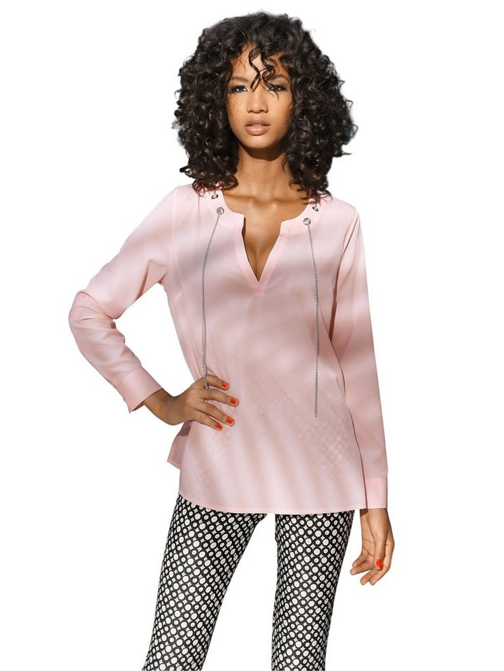 Longbluse in rosa