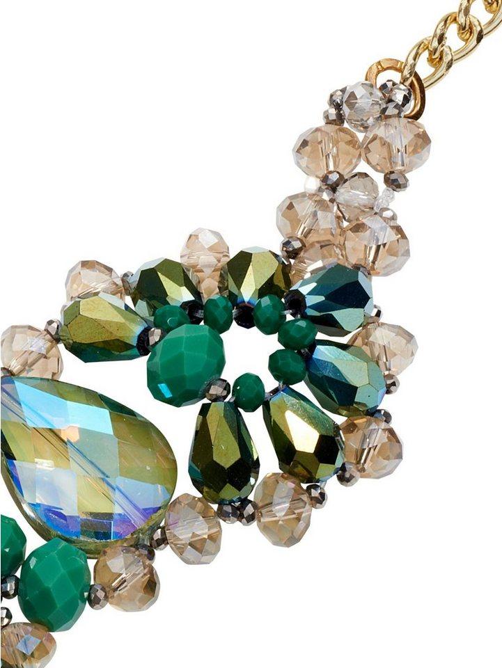 Collier in grün/goldfarben
