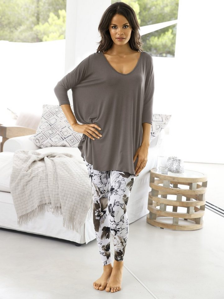 Oversized-Shirt in taupe