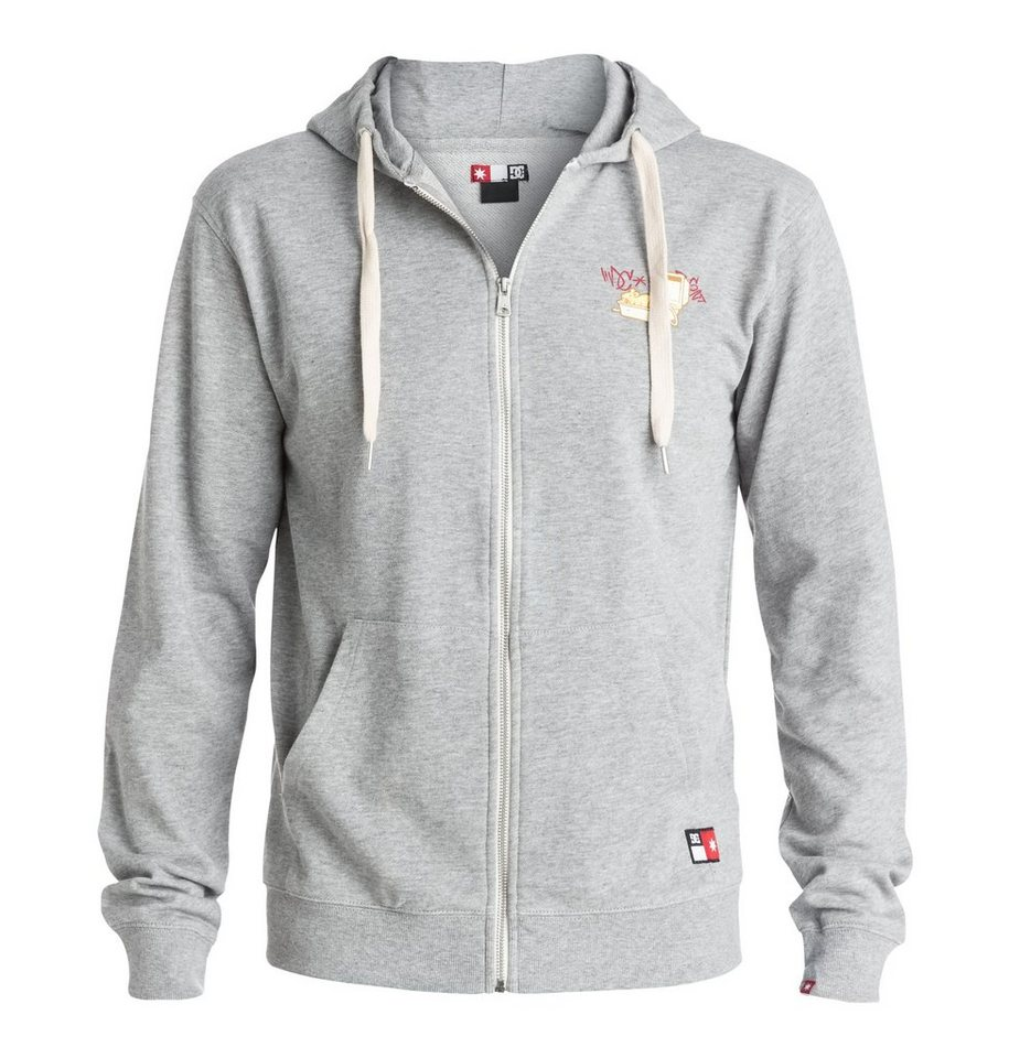 DC Shoes Kapuzenpulli mit Reißverschluss »Core Zip Sc Print« in Heather grey