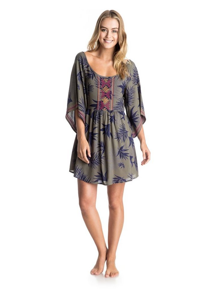 Roxy Kleid »Sunset City« in Indo-floral dusty olive-g
