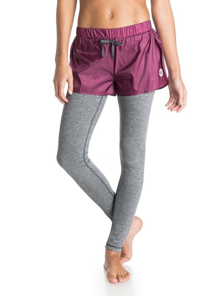 Roxy 2-in-1 Laufhose & Strumpfhosen »High Kick« in Magenta purple