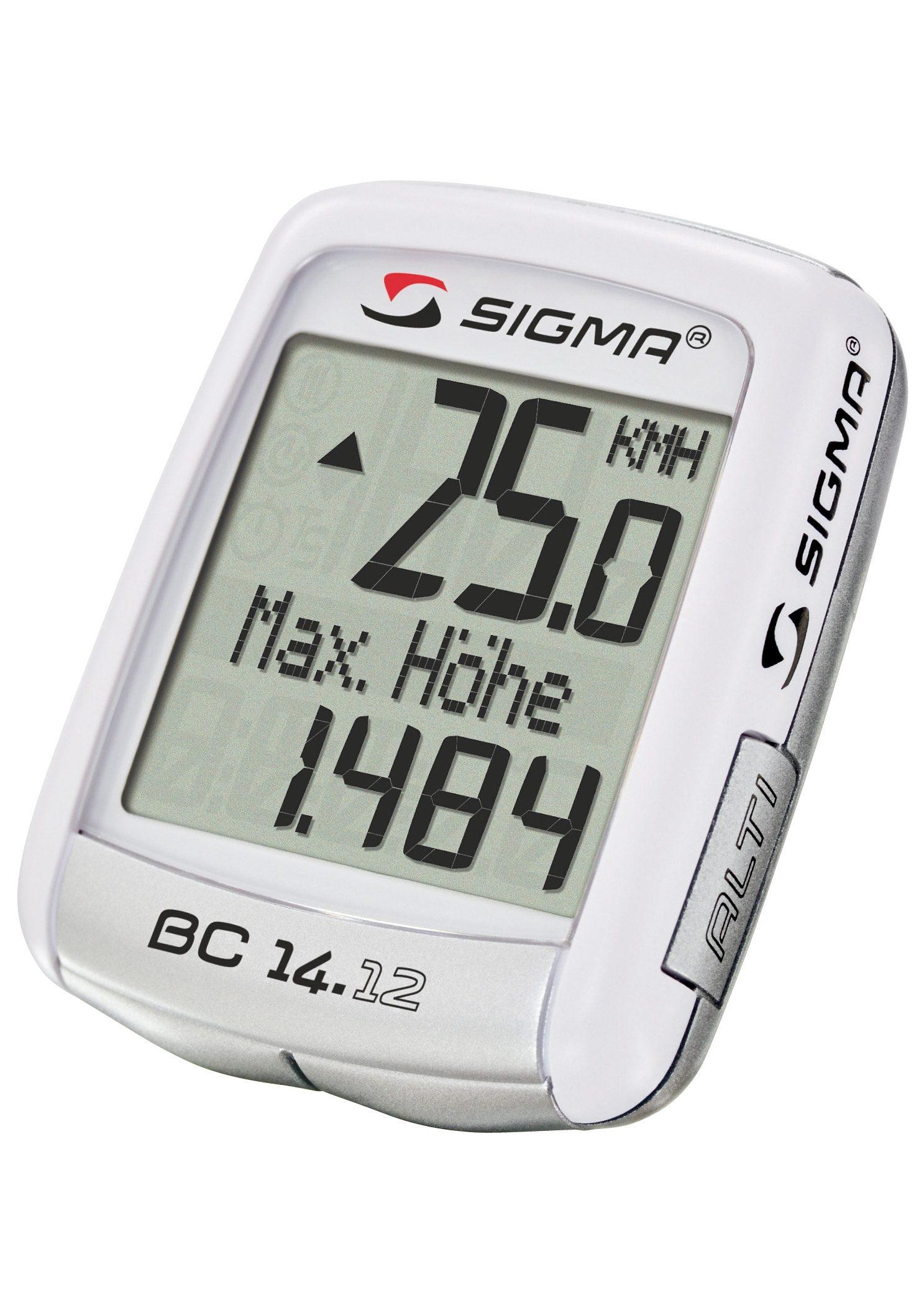 Sigma Sport Fahrradcomputer, kabelgebunden, weiß, »Topline 2012 BC 14.12 ALTI«