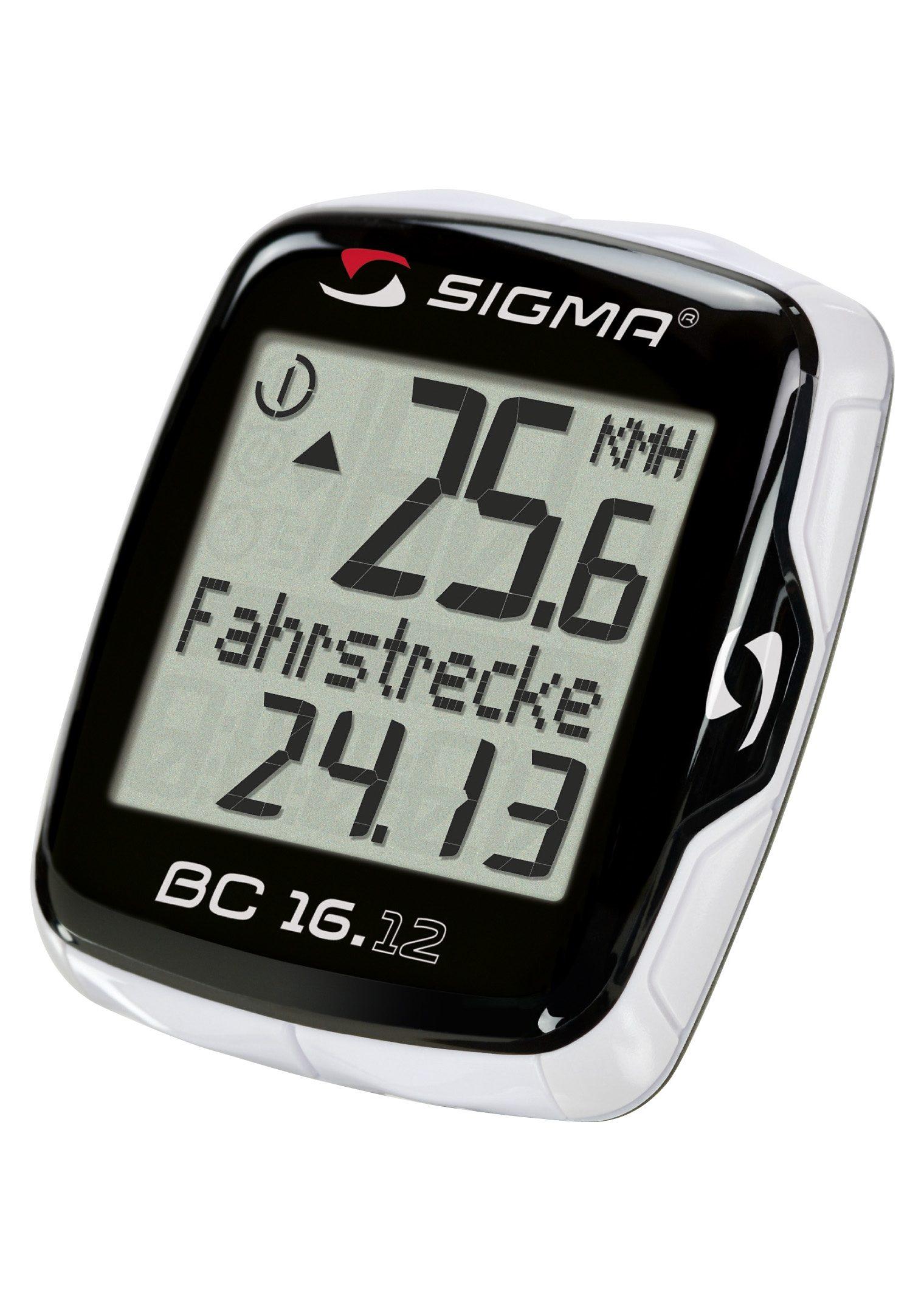 Sigma Sport Fahrradcomputer, kabelgebunden, schwarz, »Topline 2012 BC 16.12«