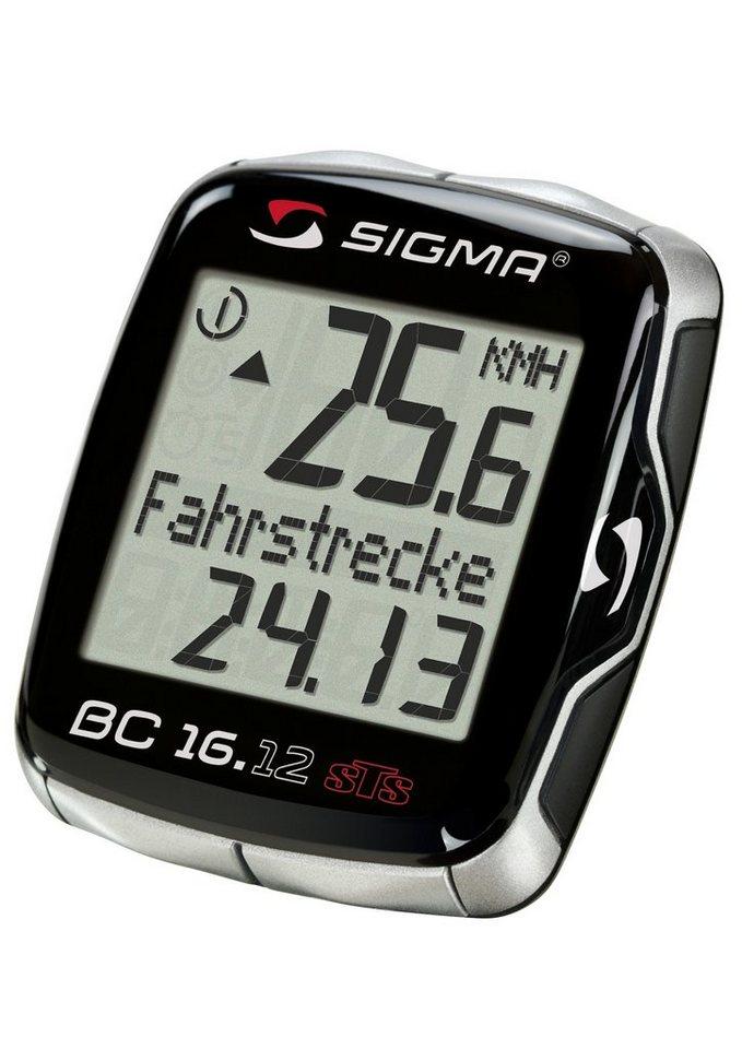 Sigma Sport Fahrradcomputer, kabellos, schwarz, »Topline 2012 BC 16.12 STS«